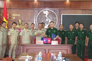BĐBP Kon Tum ký kết chương trình phối hợp với Ty Công An tỉnh Rattanakiri