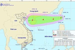 Sáng mai, áp thấp nhiệt đới vào Biển Đông, khả năng mạnh lên thành bão