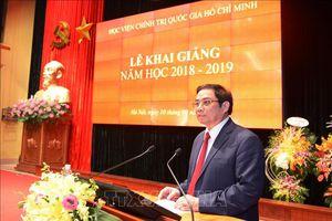 Học viện Chính trị quốc gia Hồ Chí Minh khai giảng năm học 2018-2019