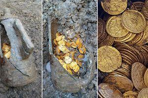 Tìm được hàng trăm đồng vàng có từ thời đế chế La Mã
