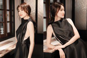 Diện váy khoét rộng tay Ninh Dương Lan Ngọc lộ hình xăm gợi cảm