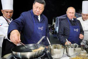 TT Putin, Chủ tịch Tập trổ tài làm bánh kếp