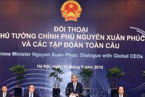 Thủ tướng Nguyễn Xuân Phúc làm việc với một số lãnh đạo tập đoàn toàn cầu dự WEF ASEAN 2018