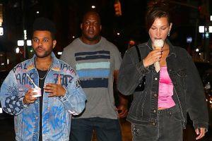 Bella Hadid vui vẻ đi ăn kem buổi tối cùng bạn trai The Weeknd