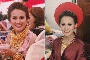 Cô dâu Hậu Giang đeo 30 cây vàng trong đám cưới