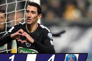 Di Maria lập hat-trick, PSG đoạt vé vào tứ kết cúp Quốc gia Pháp