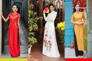 Tuyển tập 10 tà áo dài đẹp ngất ngây của mỹ nhân Việt trong Tết Mậu Tuất