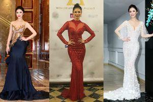 Liên tiếp chọn váy của NTK Việt, đây là người đẹp quốc tế lập kỷ lục mặc đầm 'Made in Việt Nam'
