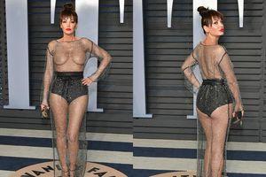 Bên lề Oscar 2018: Sao vô danh 'khỏa thân ngực' khiến dàn sao hạng A 'tắt điện'