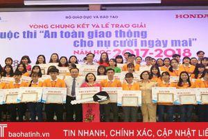 Hà Tĩnh giành giải cao tại cuộc thi 'ATGT cho nụ cười ngày mai'