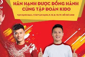 Thủ môn Bùi Tiến Dũng và cầu thủ Nguyễn Quang Hải sẽ là đại sứ thương hiệu của KIDO?