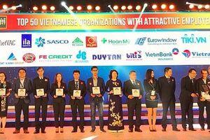 SASCO đạt TOP 50 nhà tuyển dụng hấp dẫn 2017
