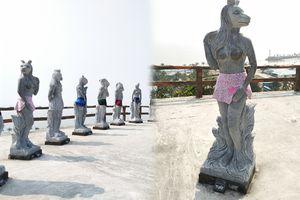 Bị ném đá vì 'hở hang', tượng 12 con giáp ở Hải Phòng đã được... mặc quần