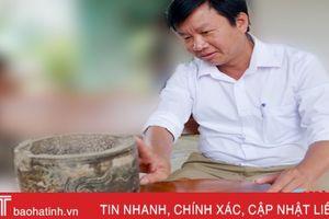 Phát hiện lư hương cổ bằng đá từ thời Nguyễn ở Hà Tĩnh