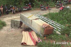 Công an điều tra vụ học sinh ở Lào Cai tử vong do cổng trường đổ sập
