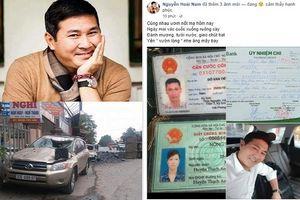 Chồng hoa khôi Thu Hương chuyển 240 triệu đồng giúp tài xế xe tải bẻ lái cứu 2 nữ sinh