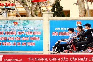 UBND tỉnh Hà Tĩnh chỉ đạo chấn chỉnh vi phạm ATGT trong giới học sinh