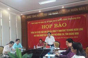Chủ tịch UBND TP Móng Cái: 800 người đã tham gia cứu hỏa tại vụ cháy ở KCN Hải Yên