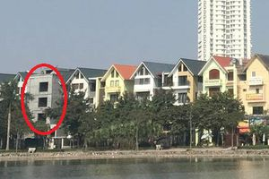Hoàng Mai: Một biệt thự sai phạm phá hỏng kiến trúc cả khu đô thị