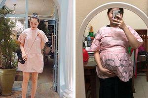 Hỏi 'bầu to mặc được váy này không?', chủ shop chắc nịch là được và đây là kết quả