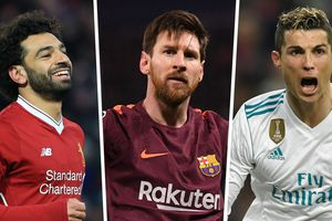 Cuộc đua 'Chiếc giày Vàng' châu Âu 2017/2018: Messi đuổi kịp Salah