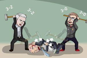 Biếm họa 24h: Mourinho và Klopp thay nhau 'đàn áp' Pep Guardiola