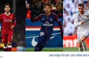 Bất ngờ với BXH 10 cầu thủ hay nhất Champions League 2017/2018