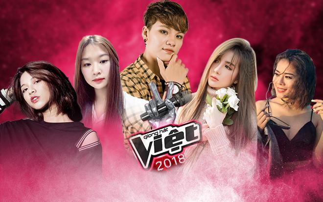 Lộ diện 5 thí sinh đầu tiên của vòng Giấu mặt The Voice 2018