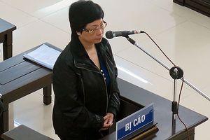 Cựu ĐBQH Châu Thị Thu Nga luôn cúi đầu trong phiên Tòa xử phúc thẩm