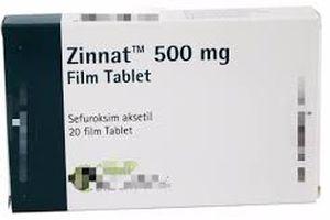 Cảnh báo thuốc giả Zinnat 500 mg Film Tablet