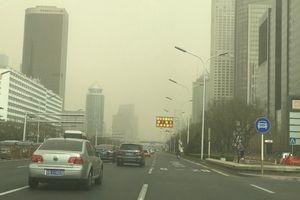 Miền Bắc Trung Quốc ô nhiễm nghiêm trọng do cát bụi bao phủ
