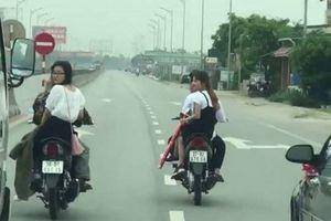Triệu tập nhóm thanh niên dàn hàng ngang trên quốc lộ khi đón dâu