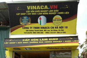 Niêm phong 8 loại sản phẩm hỗ trợ điều trị ung thư của Vinaca