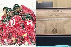 Fan chơi lớn, mua 1 ngôi sao trên trời tặng U23 như các thần tượng Hàn Quốc