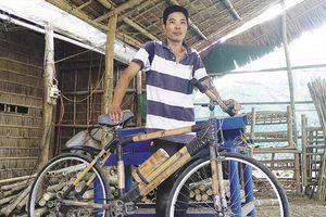 Xe đạp tre nơi làng nghề truyền thống