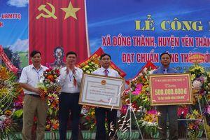 Đồng Thành (Yên Thành) đón bằng công nhận đạt chuẩn nông thôn mới