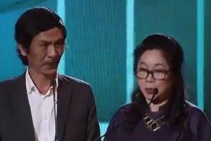 NSƯT Diệu Thuần nói nhịu tên phim 'Đảo của dân ngụ cư' tại Cánh diều vàng 2017