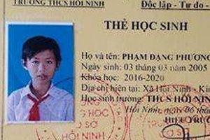 Mong ngóng thông tin về nam sinh lớp 7 mất tích