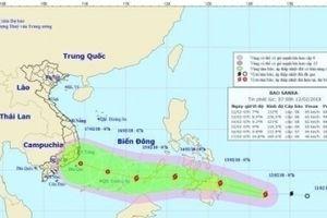 Bão Sanba giật cấp 10, tăng tốc đang hướng vào Biển Đông