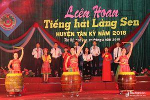 Ấn tượng Liên hoan Tiếng hát Làng Sen ở Tân Kỳ