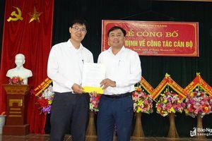 Huyện Yên Thành công bố quyết định bổ nhiệm cán bộ