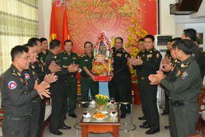 Các đơn vị Campuchia thăm, chúc Tết BĐBP Tây Ninh, Bình Phước, Đắk Nông