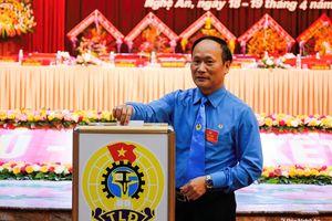 Đồng chí Nguyễn Tử Phương tái đắc cử Chủ tịch LĐLĐ tỉnh Nghệ An