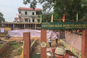 Hiệp Hòa – Bắc Giang: Trường Mầm non đang xây dựng đã bị rạn nứt trần và phải xả sập bê tông