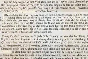 Khoa Báo chí-Truyền thông lên tiếng vụ nghi xâm hại nữ CTV Tuổi Trẻ