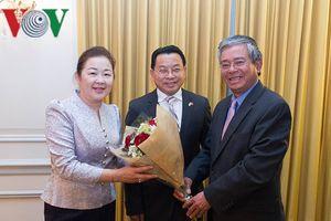 Đại sứ Việt Nam tại Hoa Kỳ chúc Tết Đại sứ Lào