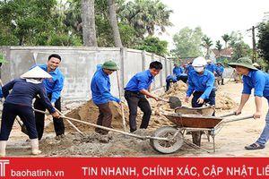 100 ĐVTN khối các cơ quan tỉnh tham gia xây dựng NTM