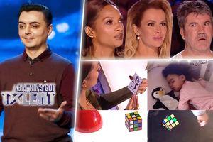 Giám khảo Britain's Got Talent cứng người trước tiết mục 'xuyên không' thực thụ của ông bố ảo thuật gia