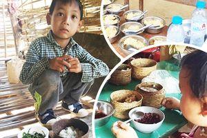 Bật khóc trước nẹp cơm khô khốc của những đứa trẻ Xinh Mun
