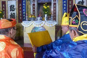 Lễ tế nghĩa trủng Nam Ô để không quên xương máu tiền nhân